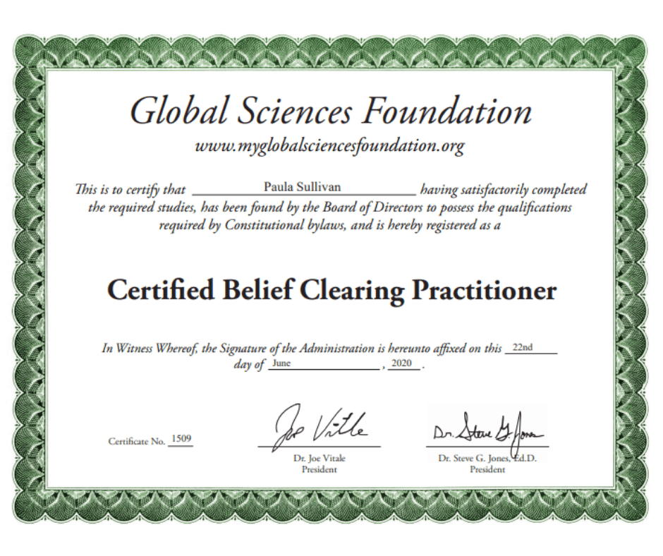 Belief Clearing Practitioner